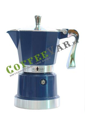 Гейзерная кофеварка Top Moka Caffettiera Super Top 3 порции (120 мл) голубой