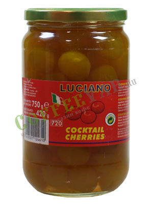 Коктейльная вишня Luciano Желтая без черенков 750 мл