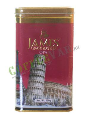 Чай James Grandfather OPA. Черный, ж.б. 150 гр