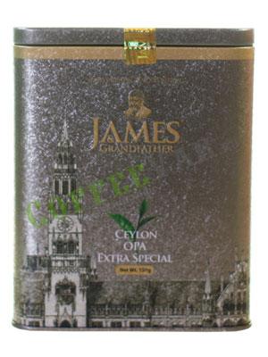 Чай James Grandfather OPA Soure Tin. Черный, ж.б. 150 гр