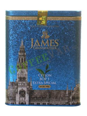 Чай James Grandfather BOP1 Soure Tin. Черный, ж.б. 200 гр
