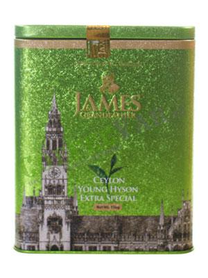 Чай James Grandfather Greentea Soure Tin. Зеленый, ж.б. 150 гр