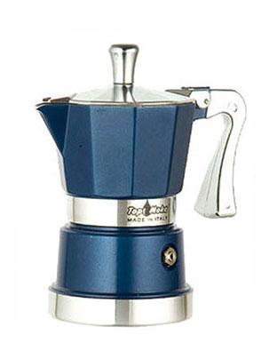 Гейзерная кофеварка Top Moka Caffettiera Super Top 6 порции (240 мл) голубой