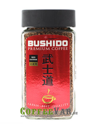 Кофе Bushido растворимый Red Katana 100 гр (ст.б.)