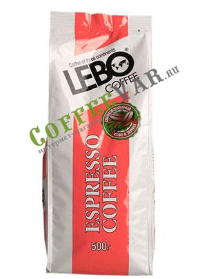 Кофе Lebo в зернах 500 гр