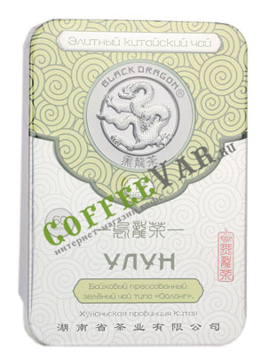 Чай Черный Дракон Прессованный зеленый улун 60 гр ж/б