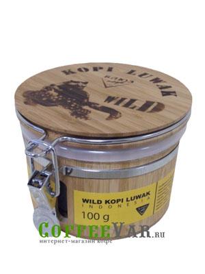 Кофе Kopi Luwak в зернах Дикий (Подарочный) 100гр