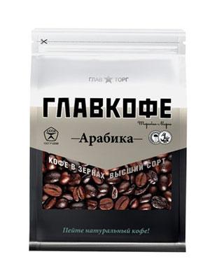 Главкофе натуральный жареный в зернах 200 гр