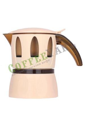 Гейзерные кофеварки Mamy Moka Ivory 4 пор 160 мл (для микроволновой печи)