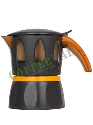 Гейзерные кофеварки Mamy Moka Black 4 пор 160 мл (для микроволновой печи)