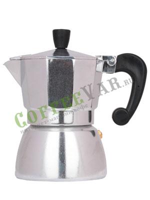 Гейзерная кофеварка Hot Алюминиевая на 3 порции (120 мл)