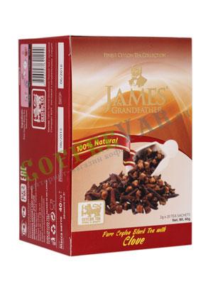 Чай James Grandfather Clove черный в пакетиках