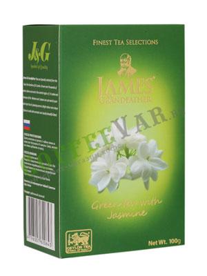 Чай James Grandfather Жасмин Зеленый, 100 гр