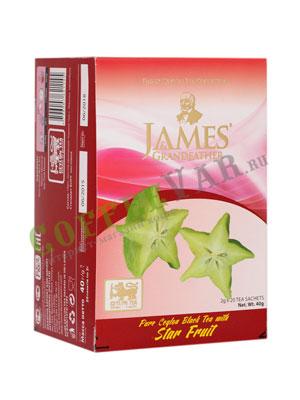 Чай James Grandfather черный с карамболой в пакетиках