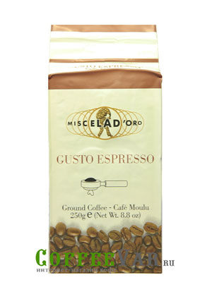Кофе Miscela d`Oro молотый Gusto Espresso 250гр