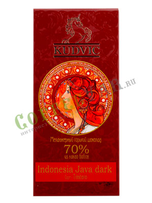 Шоколад Kudvic 70% из какао бобов Indonesia Java dark