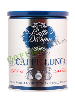 Кофе Diemme молотый Blens Coffee Blue Lungo 250 гр ж/б