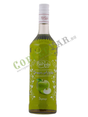 Сироп BaResto Зеленое яблоко 1 литр
