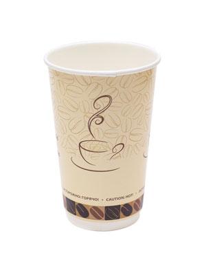 Стакан бумажный ThermoCup двухслойный 400 мл Чашка кофе