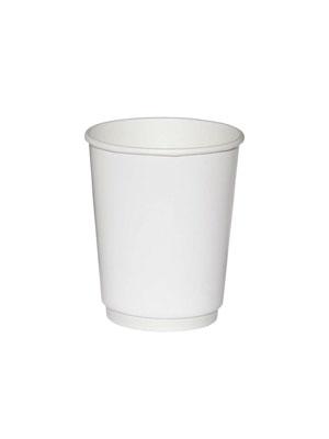 Стакан бумажный ThermoCup двухслойный 250 мл Белый