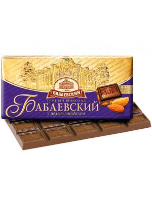 Шоколад Бабаевский темный с целым миндалем 200 гр
