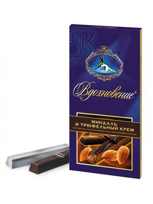 Шоколад Бабаевский Вдохновение миндаль и трюфельный крем 100 гр