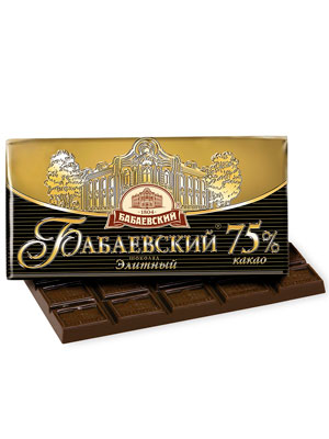 Шоколад Бабаевский Элитный 75% 200 гр