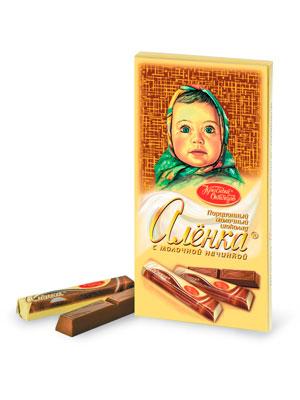 Шоколад Красный Октябрь Аленка в стиках с молочной начинкой 100 гр