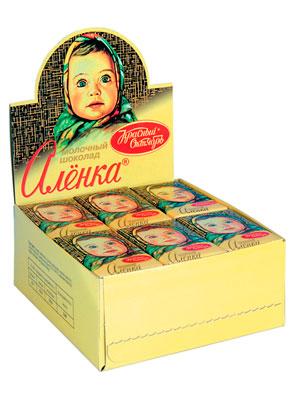 Шоколад Красный Октябрь Аленка молочный шоу бокс (42 шт по15 гр)