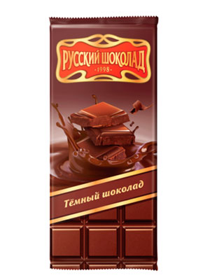 Шоколад Русский шоколад Темный 85 гр
