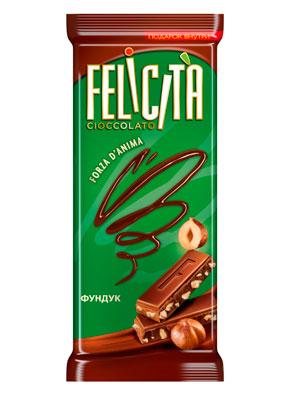 Шоколад Русский шоколад Молочный Felicita Forza d`Anima фундук 90 гр