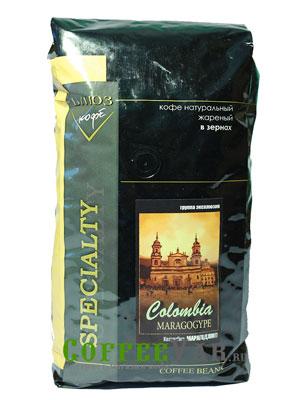 Кофе Colombia Maragogype в зернах 1 кг