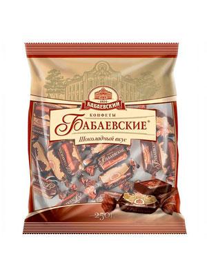 Конфеты Бабаевские Шоколадный вкус фас 250 гр