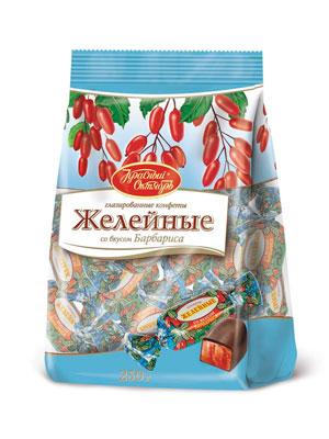 Конфеты Красный Октябрь Желейные со вкусом барбариса фас. 250 гр