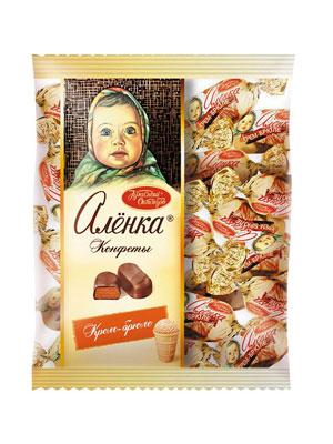 Конфеты Красный Октябрь Аленка крем брюле овал фас 250 гр