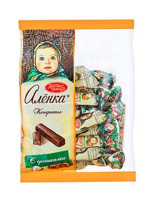 Конфеты Красный Октябрь Аленка с орешками фас 250 гр