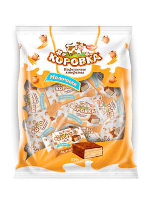 Конфеты Рот Фронт вафельные Коровка Молочная фас. 250 гр