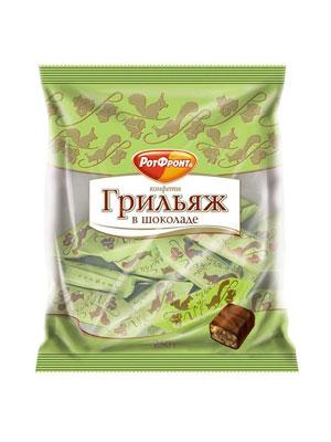 Конфеты Рот Фронт Грильяж в шоколаде фас. 250 гр