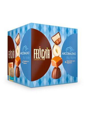 Конфеты Русский шоколад Arcobaleno Blu Notte Ореховая нуга и карамель фас. 205 гр