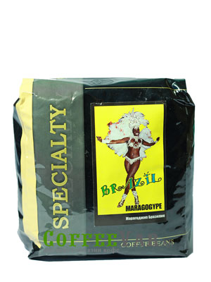 Кофе Brazil Maragogype в зернах 500 гр