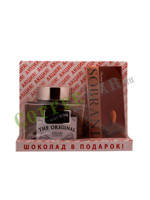 Подарочные наборы Кофе Bourbon Original и Шоколад Sobranie