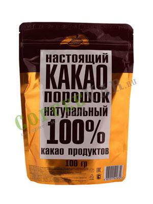 Настоящий какао порошок натуральный 100 % пакет 100 гр