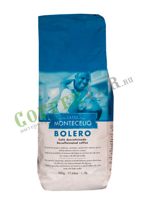 Кофе Montecelio Bolero Decaf в зернах 500 гр