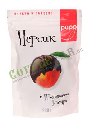 Персик в шоколадной глазури PUPO 200 гр в.у
