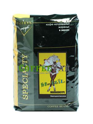Кофе Brazil Maragogype в зернах 1 кг