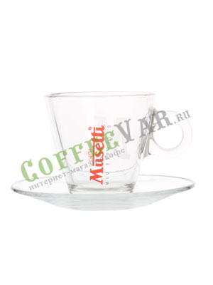 Musetti Чашка и Блюдце Стекло Американо
