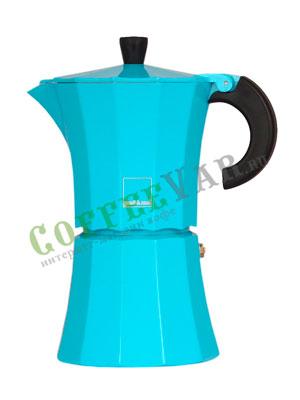Гейзерная кофеварка Morosina Синяя 6 порций
