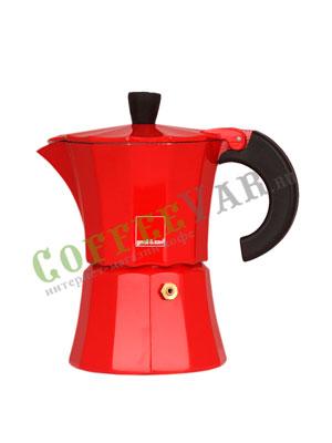 Гейзерная кофеварка Morosina Красная 3 порций