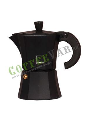Гейзерная кофеварка Morosina Черная 3 порций