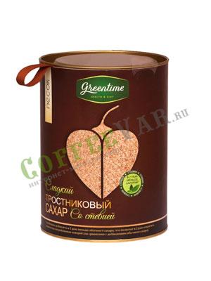 Сахар Greentime тростниковый со стевией, Песок 420 гр